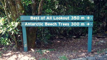 The National park is filled with look outs and this was is appropriately named walking distance from the actual summit